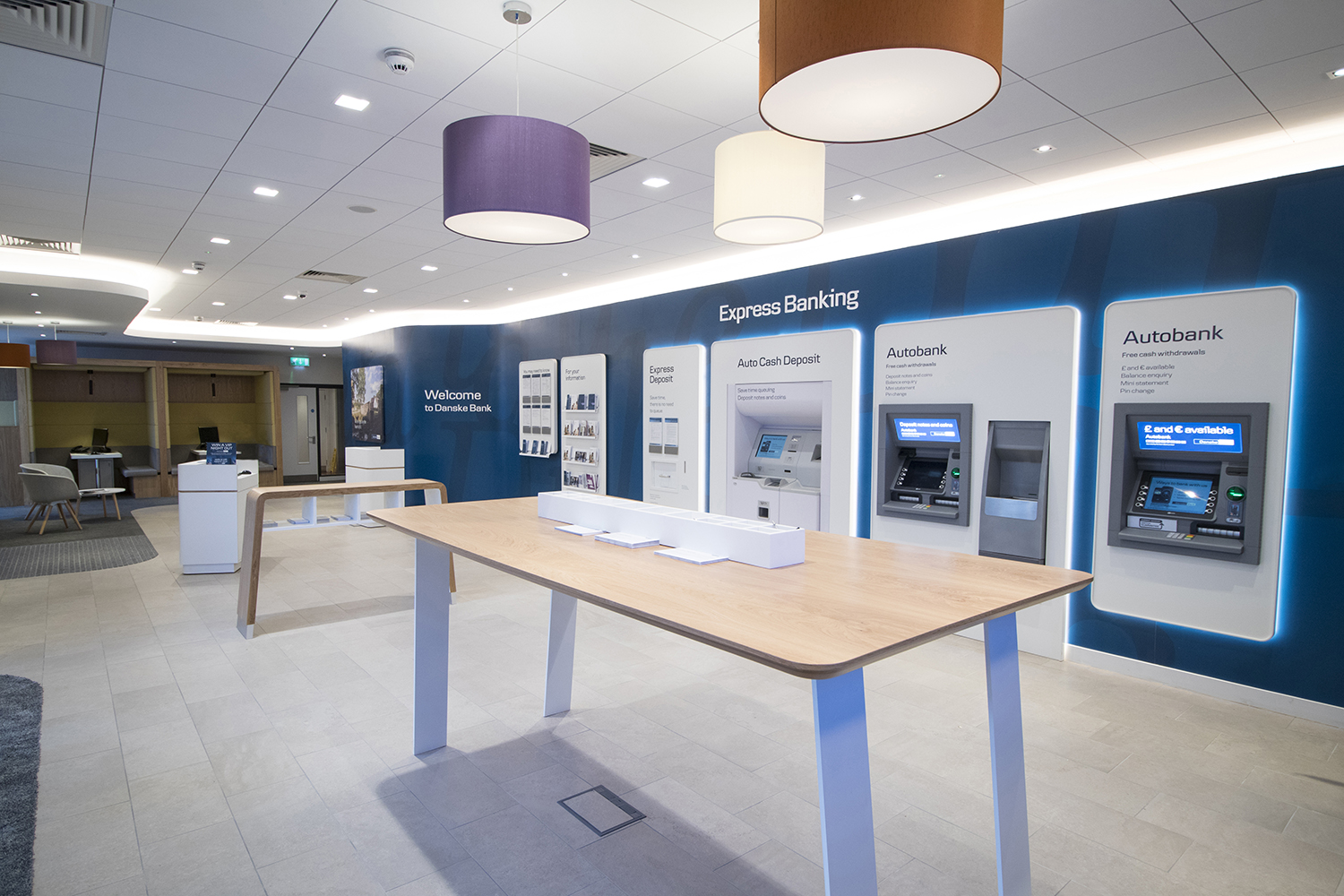 Danske bank branches mccue crafted fit bespoke for Office design northern ireland